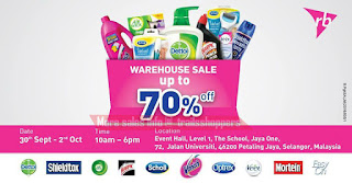 RB Dettol Airwick Scholl Warehouse Sale 2016