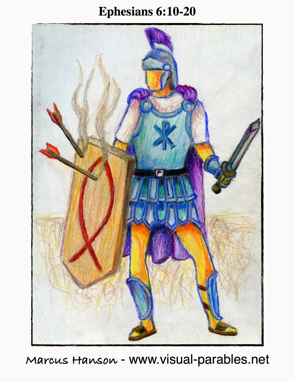a Godly warrior in the armor of God