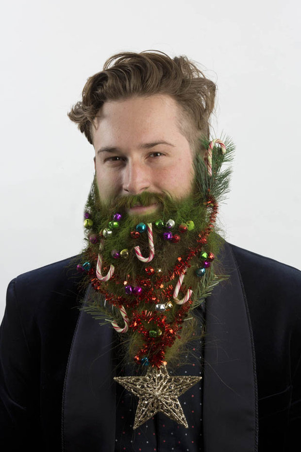 christmas tree beard