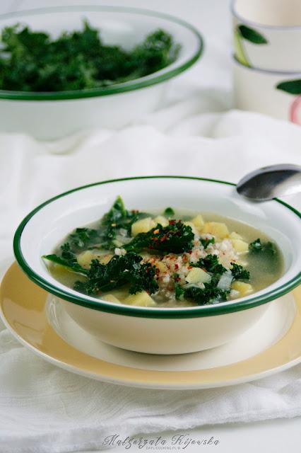 krupnik, jarmuż, kasza, zupa, obiad, daylicooking