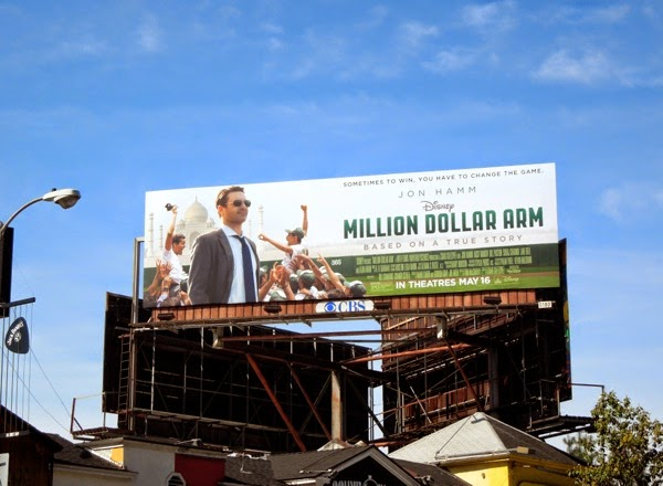 Disney Million Dollar Arm movie billboard