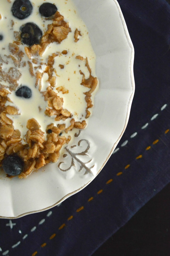 blueberry cinnamon oatmeal