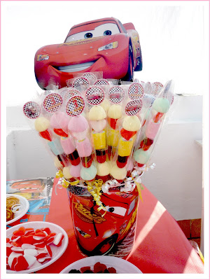 Brochetas de chuches  cars