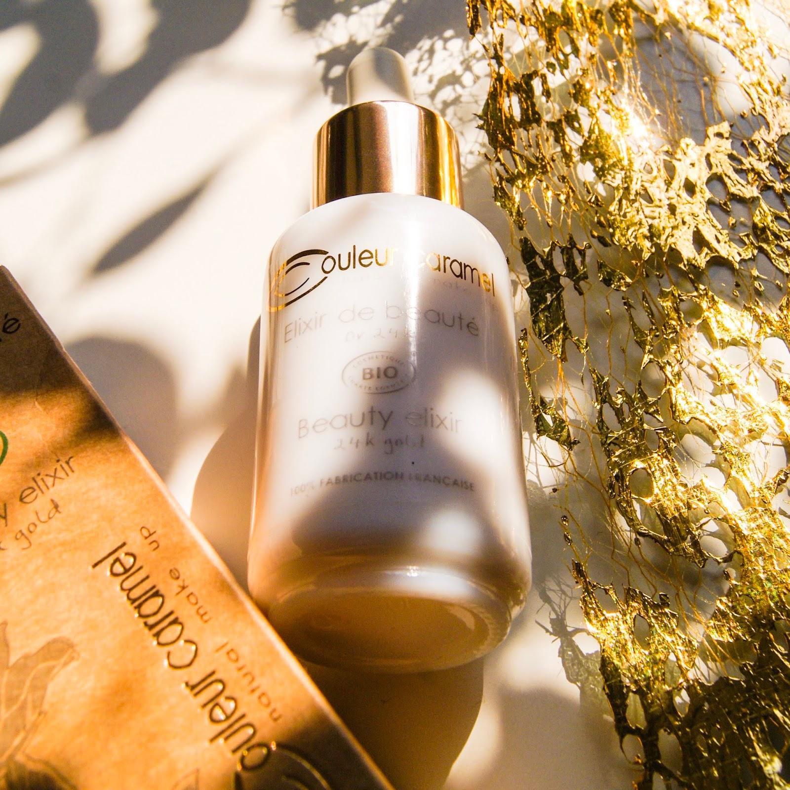 Beauty Elixir / Elixir de Beauté 24k gold od Couleur Caramel ze sklepu ekozuzu.pl - recenzja, opinie, naturalna pielęgnacja, naturalny makijaż
