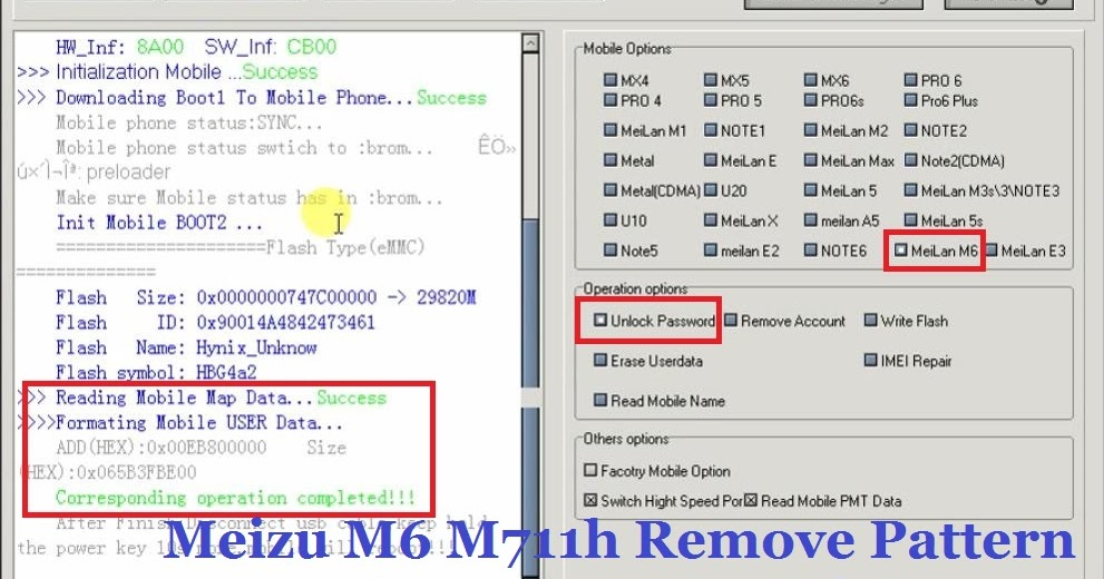 Meizu M6 M711h Remove Pattern Reset Frp Done Just One Click By Mrt