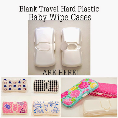 Hard Plastic Travel Size Baby Wipe Case DIY