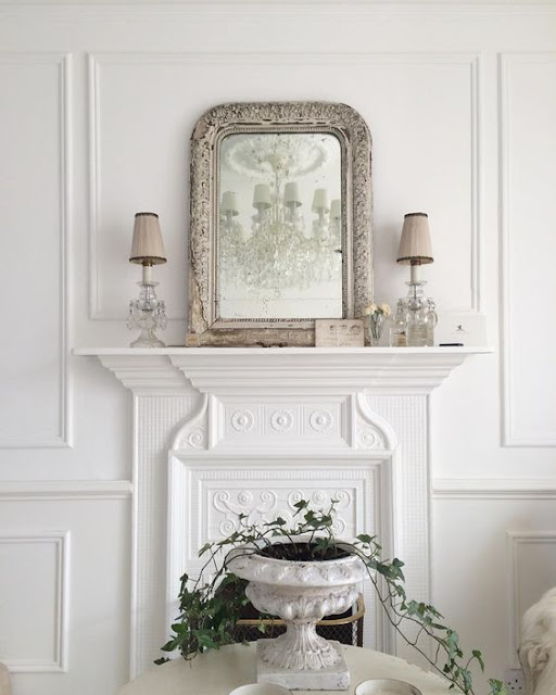 French mirror in white livingroom by @white_and_faded Instagram - Cool Chic Style Fashion