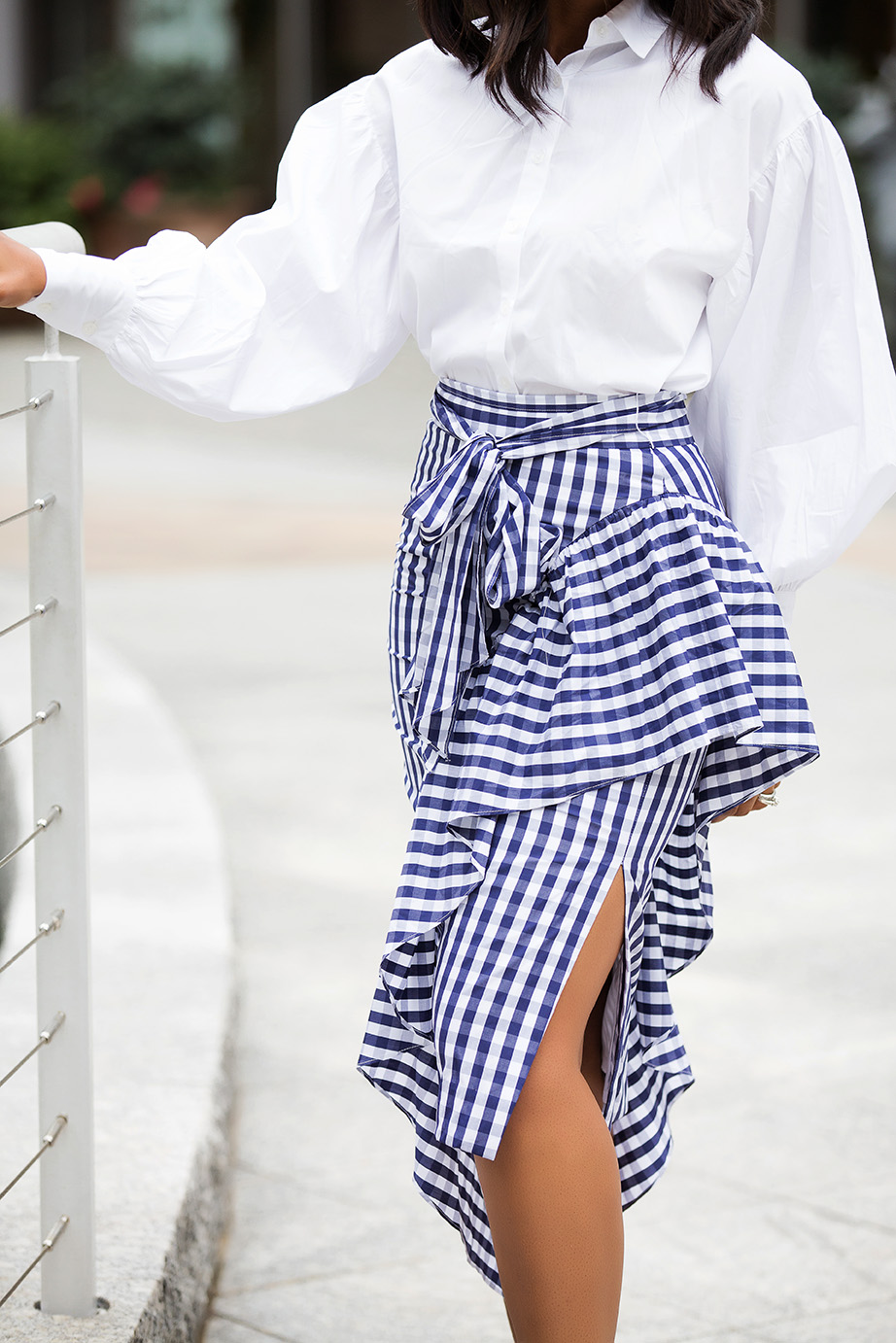 Milly cascading gingham skirt, www.jadore-fashion.com