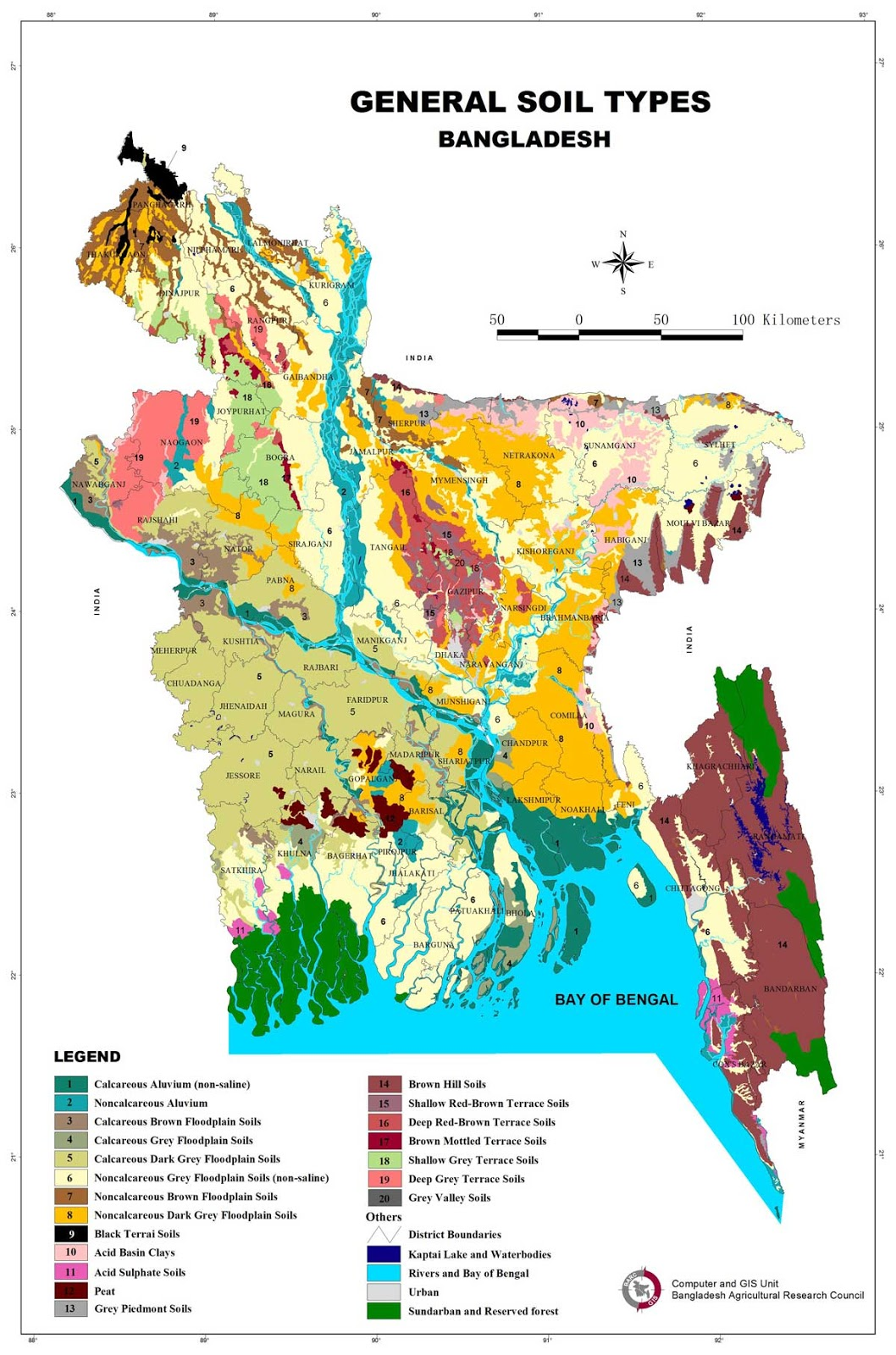 General Soil Type Map Bangladesh