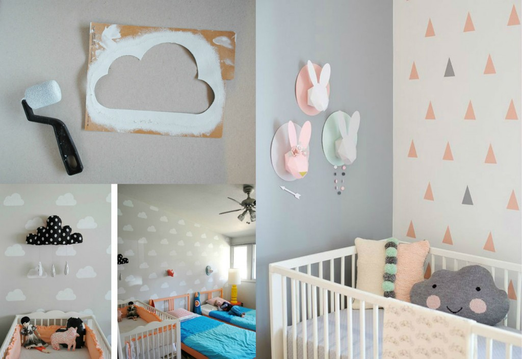 Ideas para decorar las paredes de un dormitorio infantil for Ideas para habitaciones para bebe