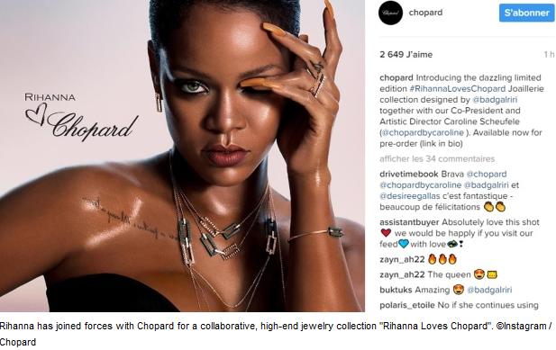Rihanna Chopard debut
