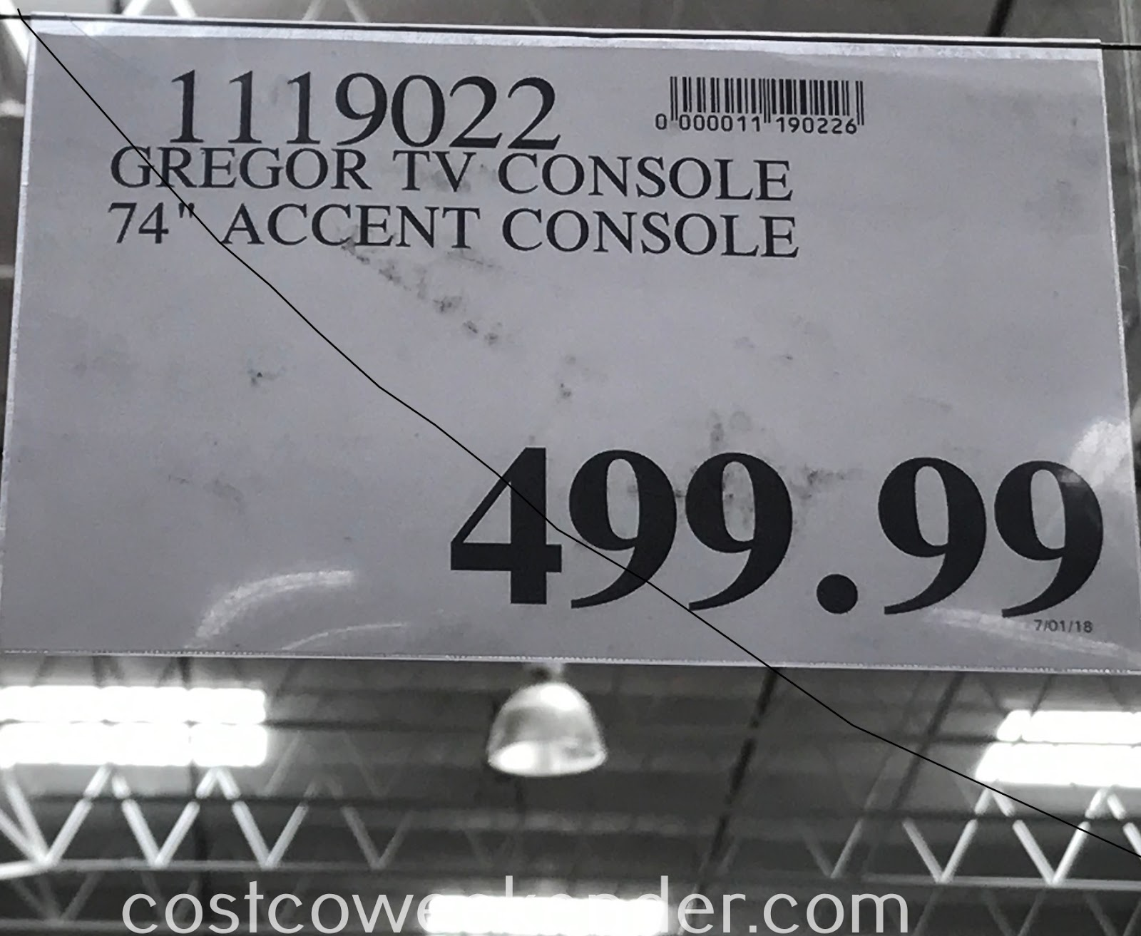 Deal for the Gregor Accent TV Console at Costco