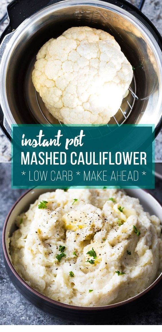 Creamy Parmesan Instant Pot Mashed Cauliflower