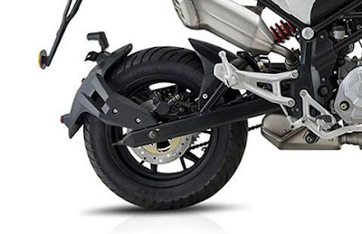 Benelli TNT 135 rear wheel image