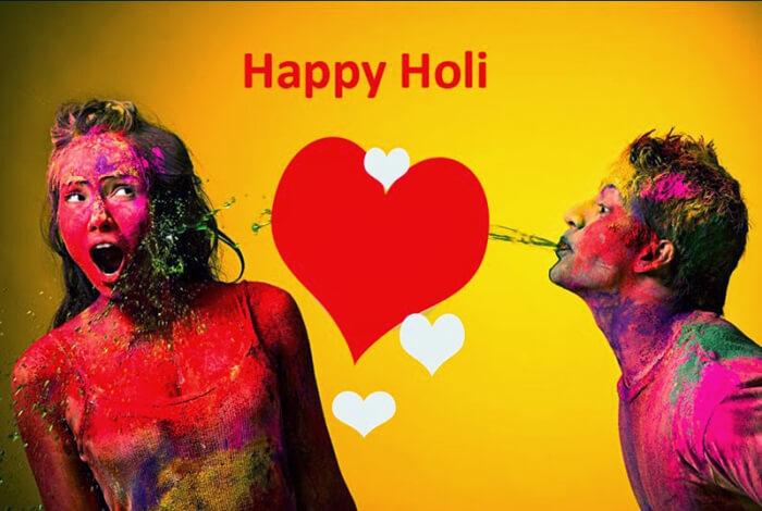 Happy Holi Romantic Love SMS Wishes Shayari Quotes