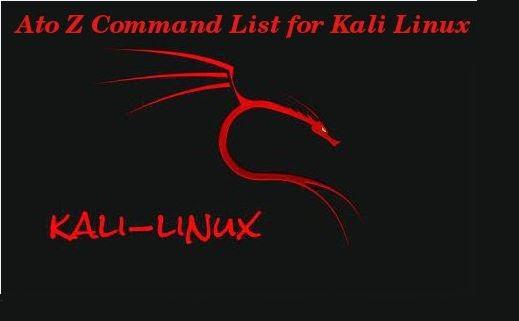 A-Z Kali_Linux Commands-Part 1 1