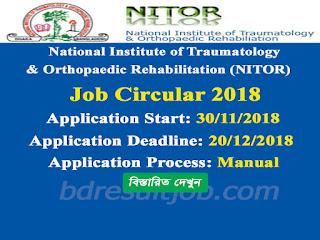 NITOR Job Circular 2018