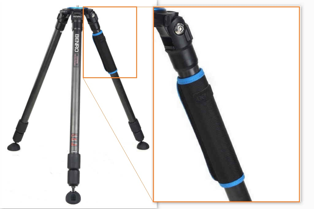 Benro Combination tripod redesigned removable leg grip