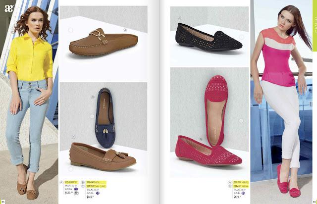 Catalogo Andrea mexico  zapatos cerrado  2016