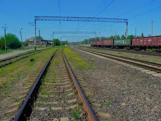 Железнодорожная станция Кондратьевка. пгт. Алексеево-Дружковка Донецкой обл.