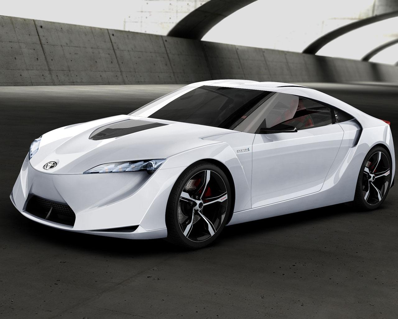 Futuristic Toyota FT-HS Hybrid Sports Concept Car