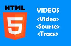 Icono de HTML5 con las etiequetas para subtitular en HTML5