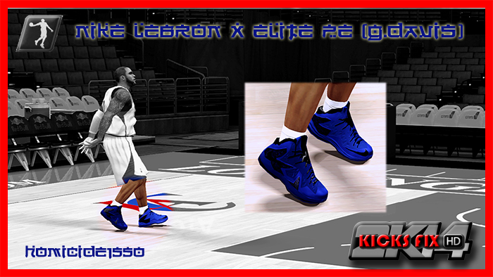 LeBron X PS Elite Black/Blue | NBA 2K14