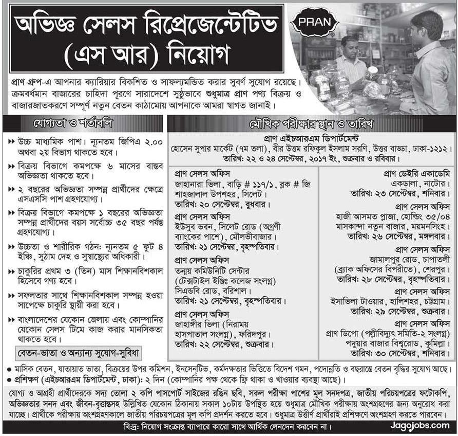 Pran Group Job Circular 2017 [Latest Job]
