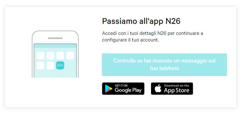 Registrazione apertura conto corrente gratis Banca N26, installazione App N26 da smartphone
