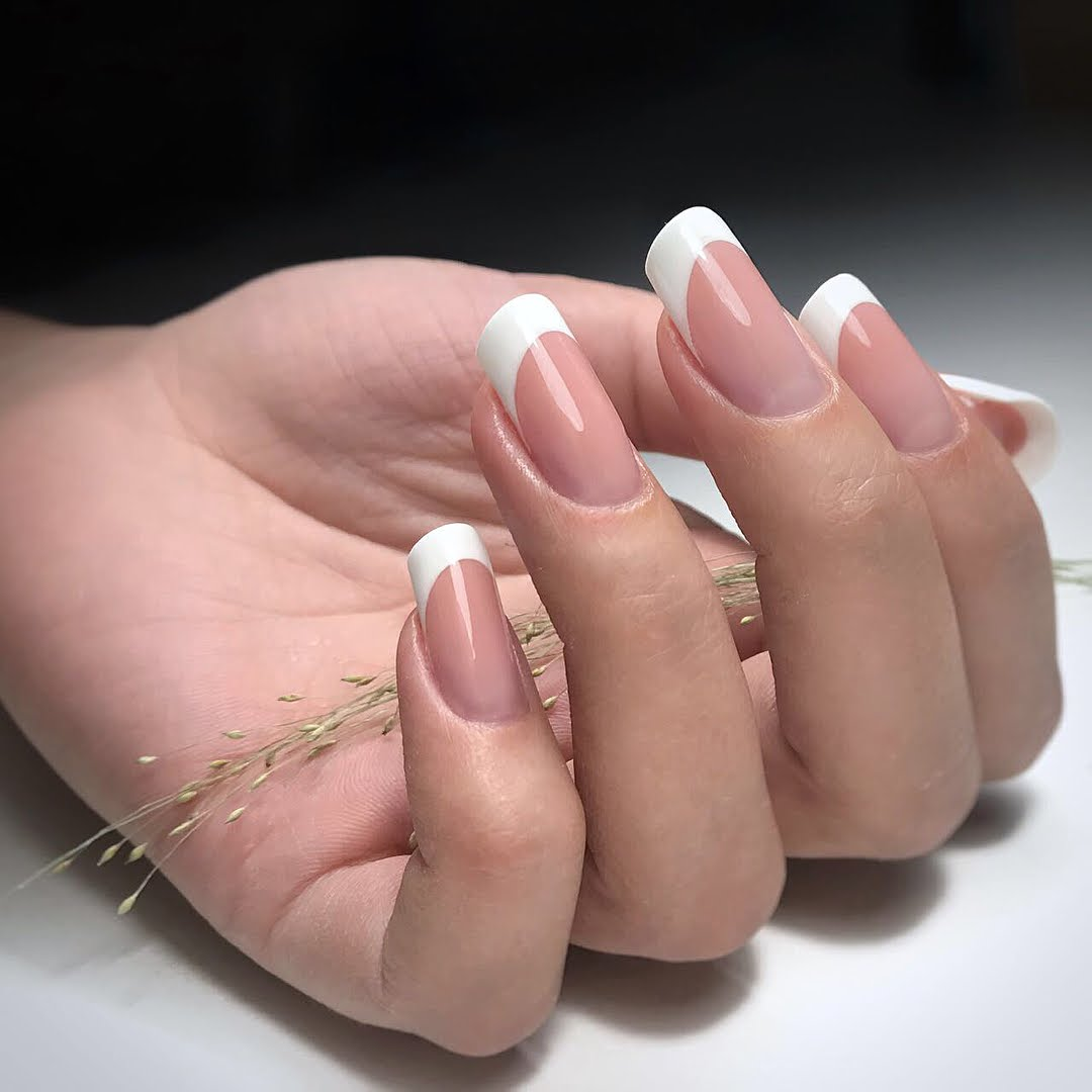 Bright White French Tips - Nail Art Essentials Nail Tutorial Blog