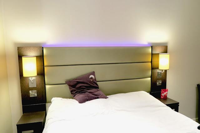 Premier Inn bed, Portland Street, Manchester