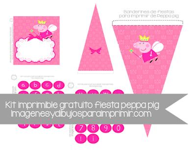 Kit imprimible de peppa pig para cumpleaños
