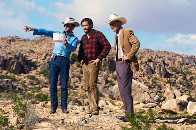 Tom Ford directs Jake Gyllenhaal and Michael Shannon. Photo: Merrick Morton/Focus Features