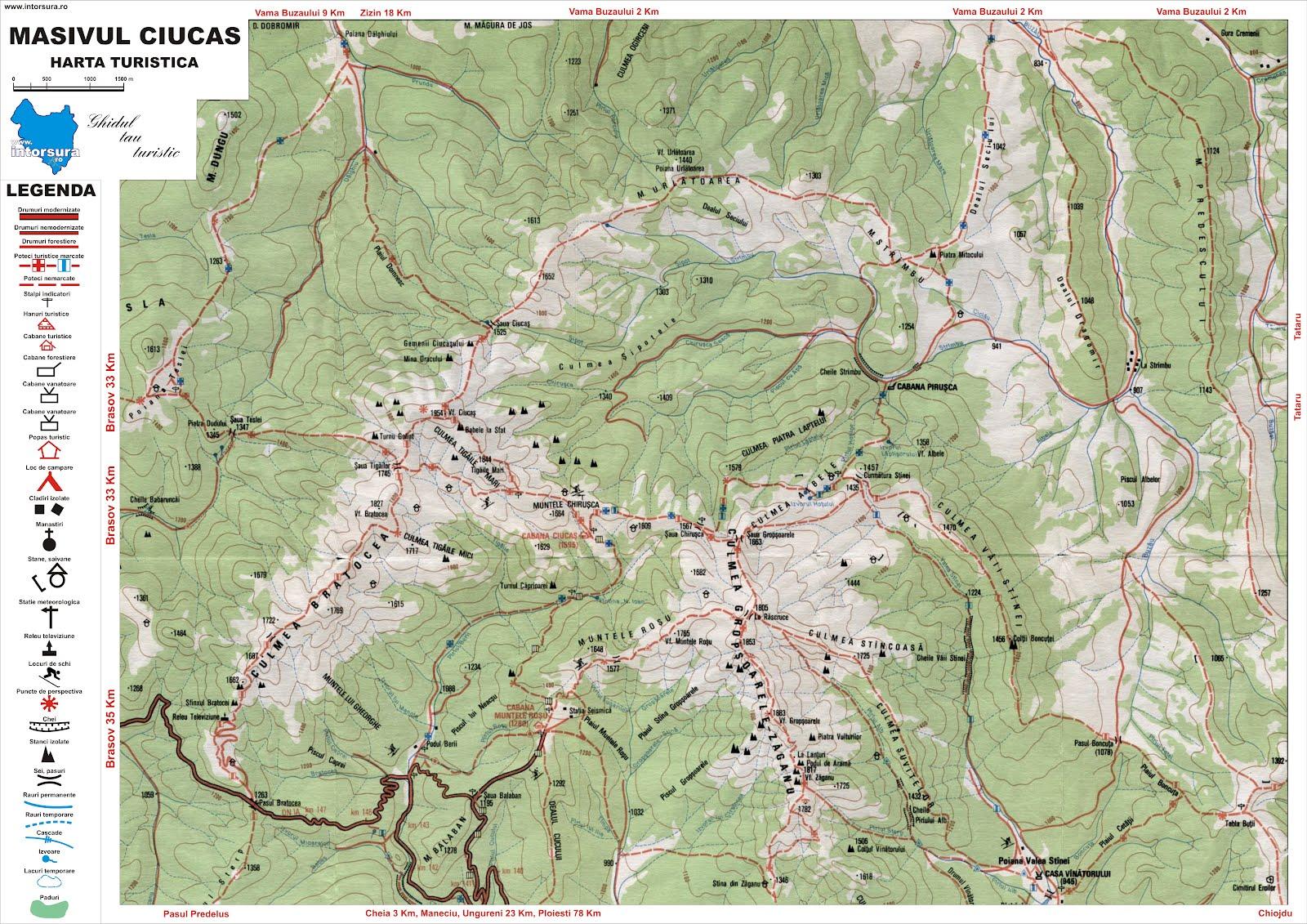 Harta Statiunea Cheia Harta