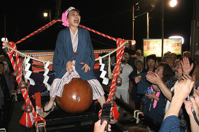 Dontsuku Matsuri (strange ritual) at Inatori Hot Springs, Izu, Shizuoka