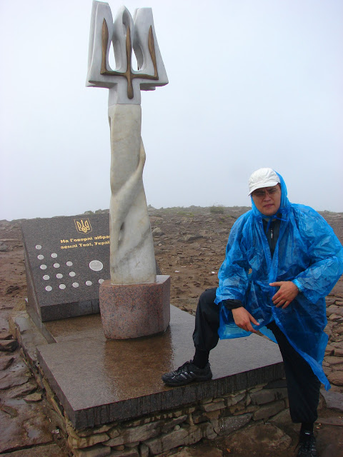 Высокие горы Украины. Вершина Говерлы. Погода оставляет желать лучшего...