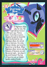 My Little Pony Nightmare Moon Series 1 Trading Card