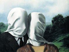 Les amants, por Magritte
