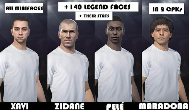 PES 2019 All Legends +140 Facepack
