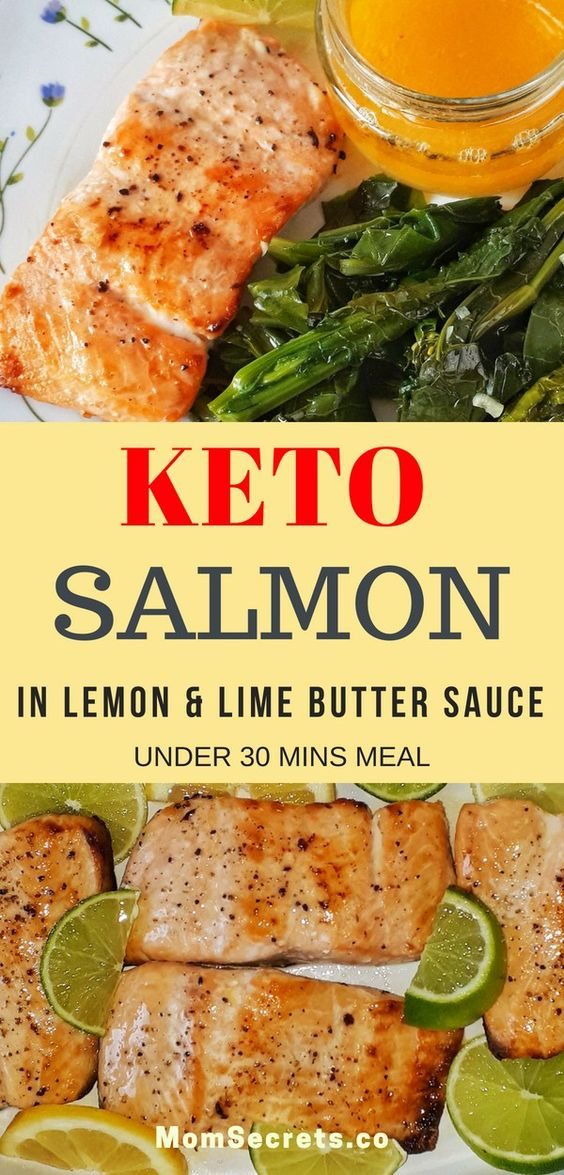 Keto Salmon with Lemon & Lime Butter Sauce