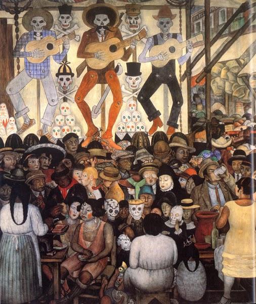 Dia dos Mortos - Diego Rivera e suas principais pinturas ~ Muralismo mexicano