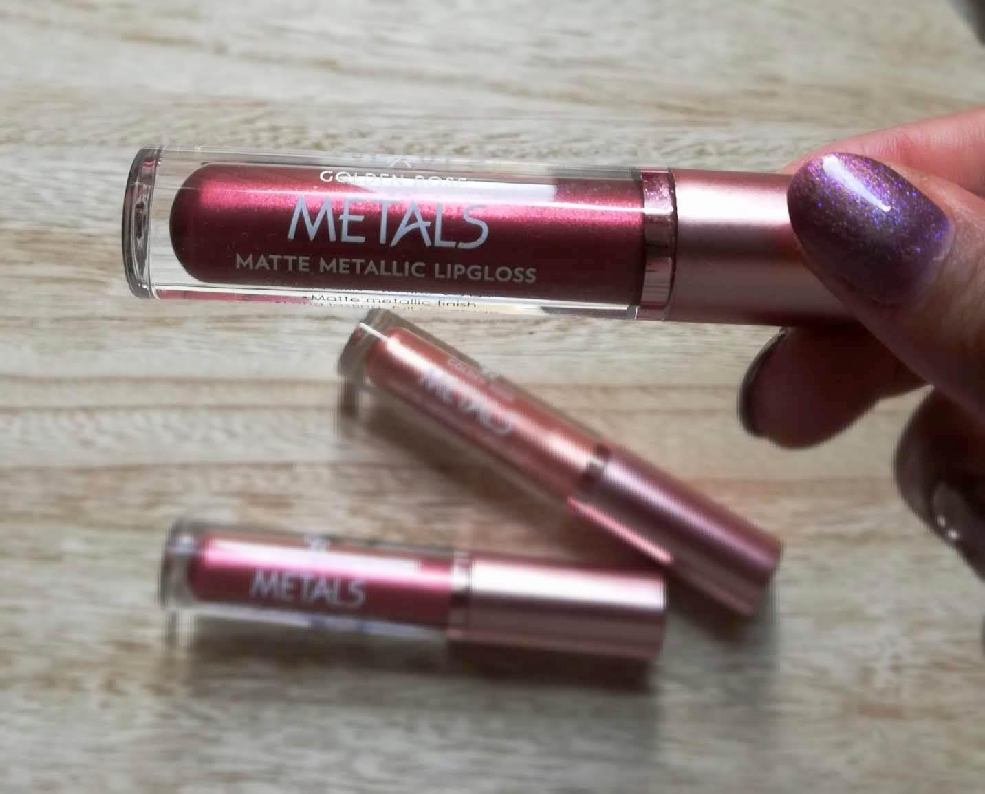 Metals Matte Metallic Lipgloss de Golden Rose / 58 Plum