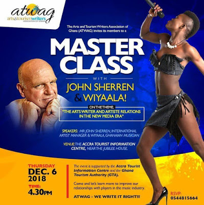 ATWAG To Engage Wiyaala And Her Manager In A Master Class On December 6
