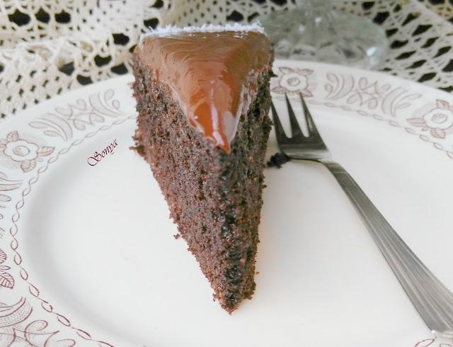 Безглутенов шоколадов сладкиш с печено какао