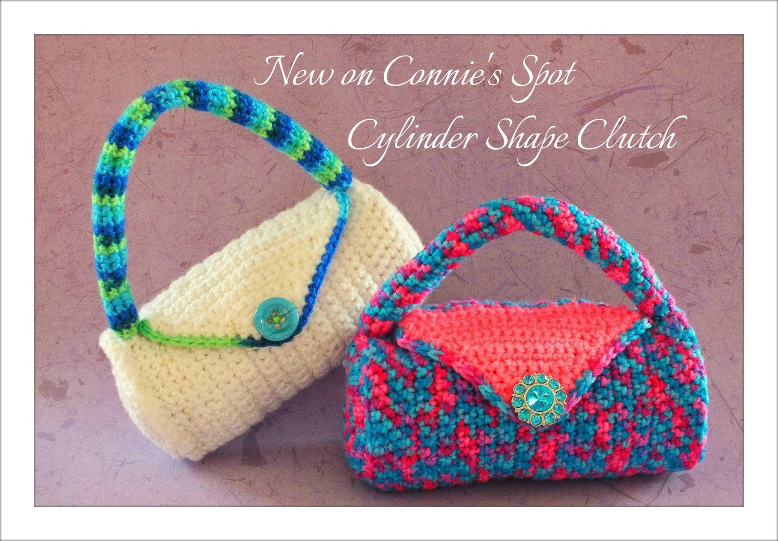 New Crochet Purse Patterns : crochet pattern cylinder clutch bag pattern by connie hughes designs