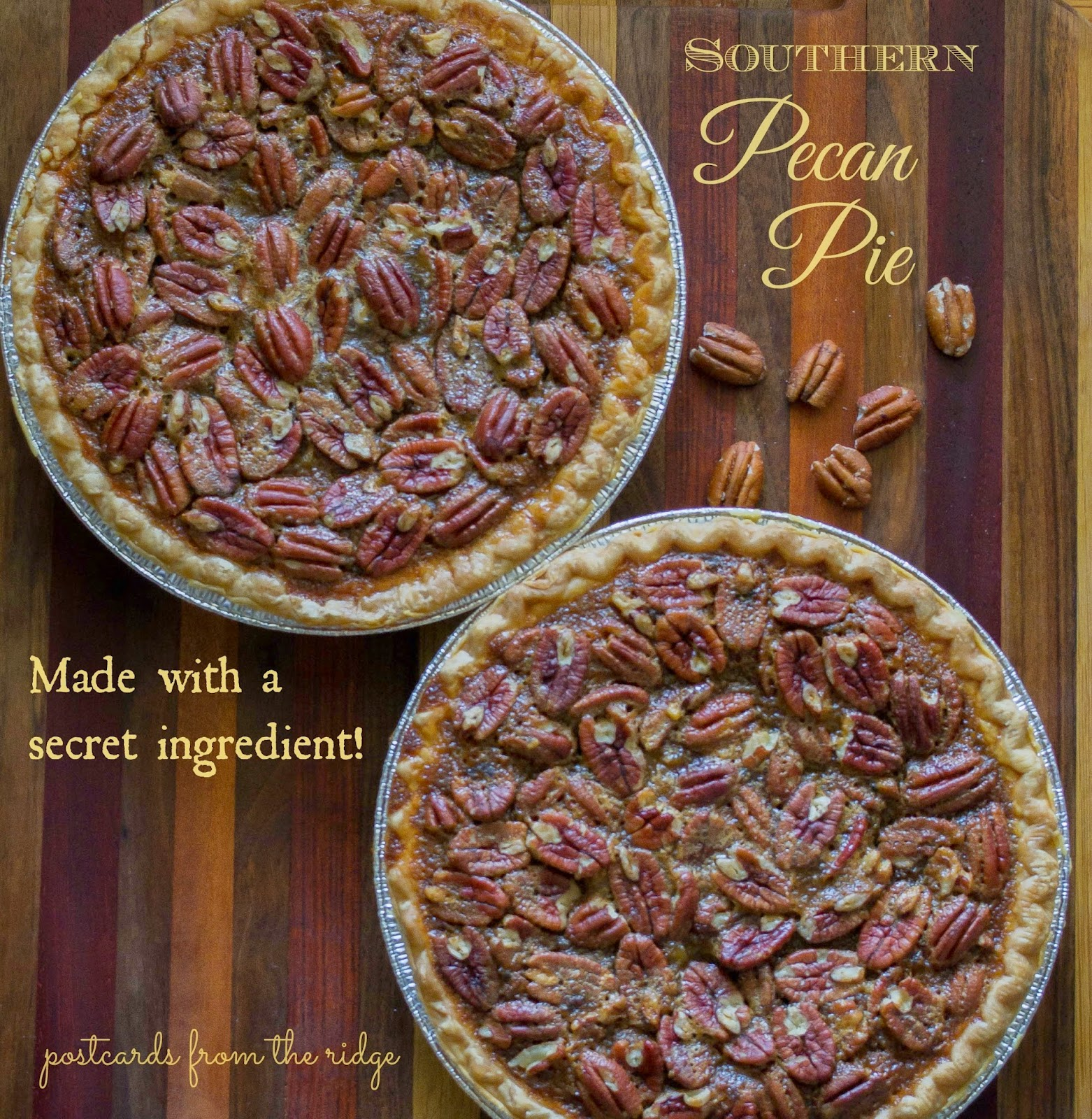 homemade pecan pies