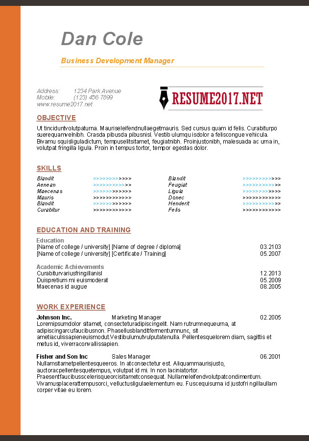Downloadable Free Resume Templates Free Resume Template Download - resume template design