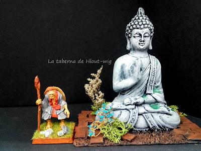 Estatua de Buda comparativa de tamaños