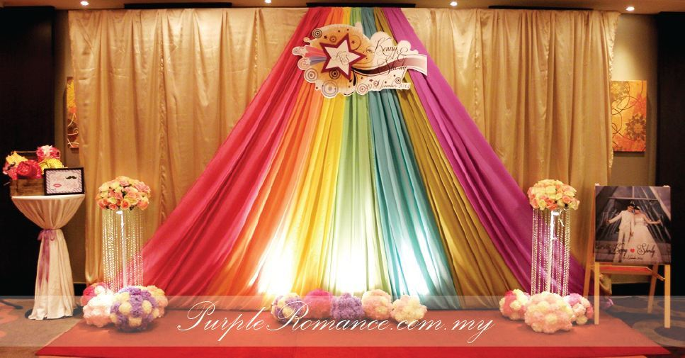 Purple  Rainbow Theme Wedding Decoration