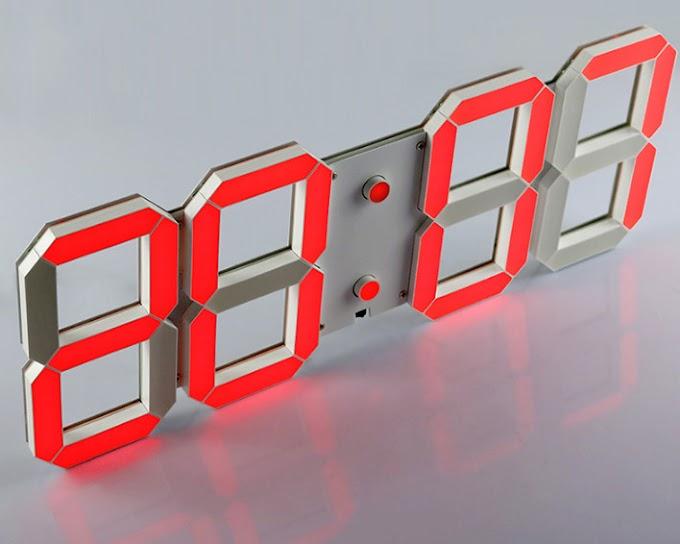 Đồng hồ led điện tử treo tường 3D đẹp